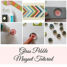 Easy DIY Glass Pebble Magnet Tutorial from StampinFool.com. Great crafts to make and sell at craft fairs.