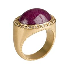 Roseark - Shop by Product: Jamie Wolf - Oval Ruby and Cognac Diamond Bona Dea Ring