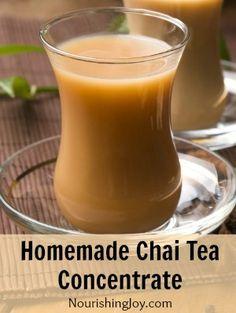 Homemade Chai Tea Concentrate - Nourishing Joy