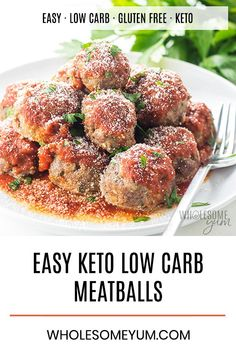 Low Carb Meatballs Italian Style Keto Gluten Free Nut Free This Italian Style Gluten Free Low Carb Meatballs Recipe Is So Easy Just 30 Minutes To
