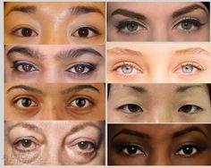 Different women eyes