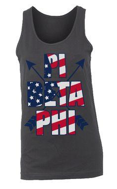 Pi Phi USA tank #piphi #pibetaphi
