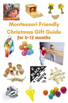 This Montessori friendly Christmas gift guide includes gifts that are gender neutral, categorized by development, and includes ages from infant to 5 years. Infant Activities, Preschool Activities, Montessori Kindergarten, Montessori Infant, Christmas Gift Guide, Christmas Gifts, Toddler Learning, Toddler Play, Preschool At Home