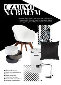 Biel i czerń to kolory, które zawsze doskonale sprawdzą się zarówno w modzie jak i wystroju wnętrz. Kontrast, który osiągamy dzięki ich zastosowaniu zapewnia we wnętrzu mocny, ale nienachalny akcent. Chcecie zobaczyć więcej? Przedstawiamy nasze propozycję. Wszystkie produkty znajdziecie w Domotece! Boconcept, Chair, Furniture, Design, Home Decor, Decoration Home, Room Decor, Home Furnishings, Chairs