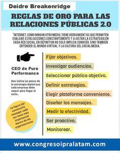 INFOGRAFÍA REGLAS DE ORO PARA LAS RELACIONES PÚBLICAS 2.0