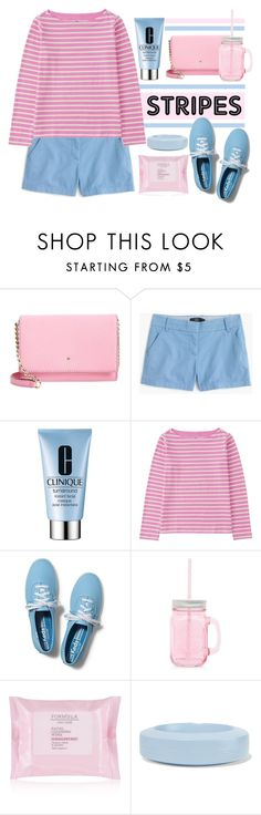 """One Direction: Striped Shirts"" by sebi86 ❤ liked on Polyvore featuring moda, Kate Spade, J.Crew, Clinique, Uniqlo, Keds, MM6 Maison Margiela y stripes"