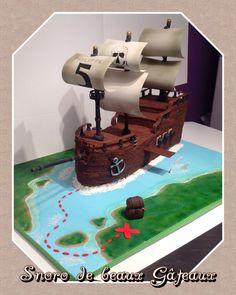"""Cake ship pirate bateau de pirate by """"Snoro de beaux Gâteaux"""""""