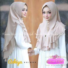 AZKIYA KHIMAR 55rb Bahan Ceruti Sifon Double Layer Double Rempel Bergo Softpad Instant Hijab, How To Wear Hijab, Turban Hijab, Hijab Tutorial, Turbans, Hijab Fashion, Dress Patterns, Eyeliner, Prom Dresses