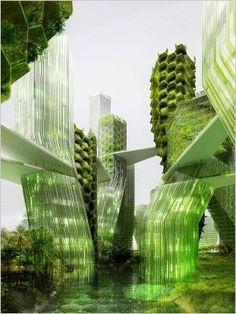 Ville dépolluante : L'adoption de solutions de dépollutions à l'échelle de toute une ville permet d'envisager des agglomérations vertes, dépolluantes. Une vision du futur ?
