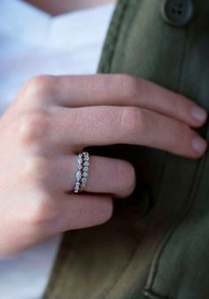 Elevate your look with rings that stack beautifully. Stackable Rings, Little Things, Fashion Rings, How To Make, Accessories, Beauty, Jewelry, Jewels, Schmuck
