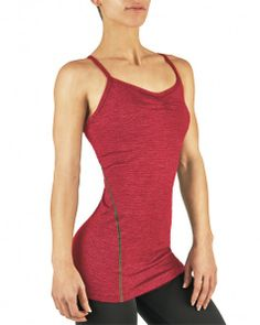 Tommie Copper Women's Performance Active Fit Racerback Camisole Pomegranate Heather Stripe l $39.50