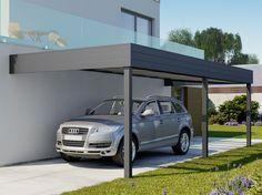 Carport Design en aluminium - adossé TALIS 8 x 3.5 m