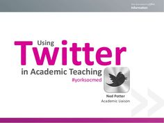 Using Twitter in academic teaching