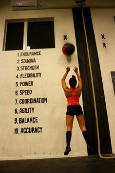Crossfit. ..the wall says it all