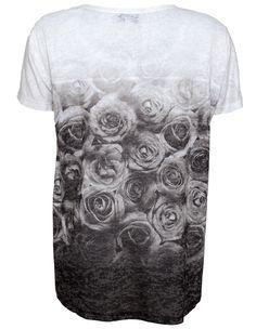 Pulz Jeans Rose T-shirt Star White/Black