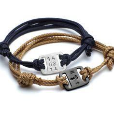 Bracelet| personalizada de los hombres Bracelet| de identidad de los hombres Regalo para daddy|gift para pulsera de gift|plaque de dad|date bracelet|dad jewellery|fathers día
