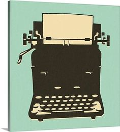 Old-Fashioned Typewriter  #green