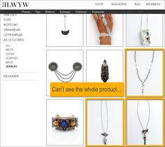 The other day I stumbled across this great website called ILWYW (that stands for I Like What You're Wearing). It's all about rising fashion, and it's super cool. Basically, the site offers up an online fashion magazine, plus an online store where the items featured in the magazine are available for sale. I really love the concept, but the ecommerce section of the site could use some improvements.