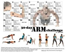 30 day arm challenge...Add this to your regular workout that day for an extra kick!