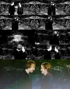 harry potter, hermione granger, and kiss image
