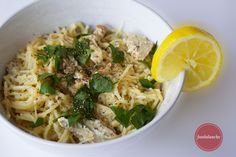 Foodalanche: Lemon Spaguetti with Chicken