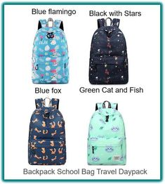 74661c8f6a3e Teens Girls Cute Pattern Printed Backpack School Bag Hike Daypack for  Travel Bag  Pantipinky