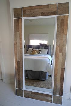 Plywood mirror DIY www.designandeverythingelse.blogspot.com