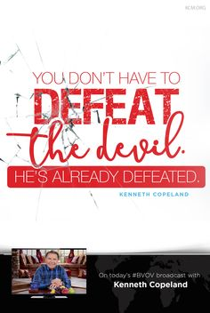 When you receive Jesus as your Lord and Savior, you have the greater One in you. Begin receiving what God has promised you, as you develop your faith in The WORD. Join Kenneth Copeland, on the Believer's Voice of Victory broadcast for faith that overcomes the world! Click here to learn more about faith and how faith and love are connected. - See more at: http://www.kcm.org/watch/tv-broadcast/the-greater-one-me#sthash.ehS70QyZ.dpuf