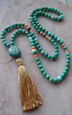 108 Bead Mala Meditation Courage Growth by GratefulHeartBazaar