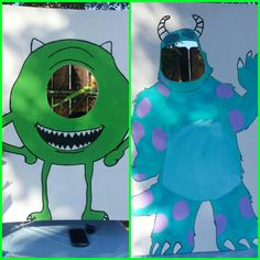 Monsters inc Party Photo booth Mike Wazowski Sulley
