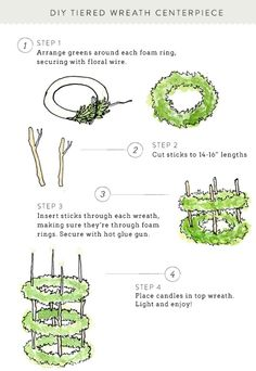 SMP at Home: DIY Tiered Wreath Centerpiece