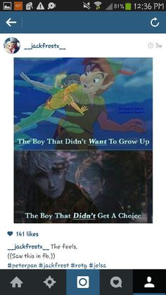 Peter Pan and Jack Frost