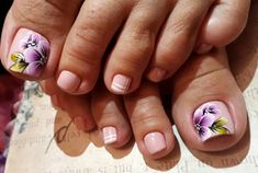 Uñas One Stroke, Beautiful Toes, Toe Nail Designs, Toe Nails, Pedicure, Hair Beauty, Nail Art, 30, Instagram