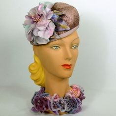 Lavender Straw Fascinator Hat BY SHARON PANOZZO #millinery #hatacademy