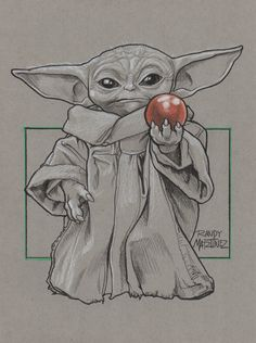 Yoda Drawing, Drawing Stars, Ship Drawing, Fine Art Drawing, Disney Pencil Drawings, Cute Drawings, Drawing Sketches, Desenho Do Star Wars, Star Wars Painting