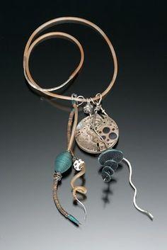 Ronna Sarvas Weltman, love her polymer work Modern Jewelry, Metal Jewelry, Jewelry Art, Jewelry Design, Fashion Jewelry, Ideas Joyería, Precious Metal Clay, Polymer Clay Jewelry, Clay Beads