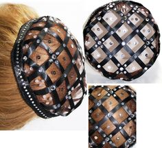 The Renaissance Juliet Cap Caul/snood featured in this listing is a cap version. This JULIET CAP, Caul snood is made from a combination of netting and a combination of BLACK Satin Ribbon &  in a cross hatch design. 1-Custom made Caul/Cap ..Black,silver,Sequins,Rhinestones