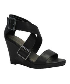 701db4bafae Another great find on  zulily! Black Kendrick Wedge by Michael Antonio   zulilyfinds Dyt