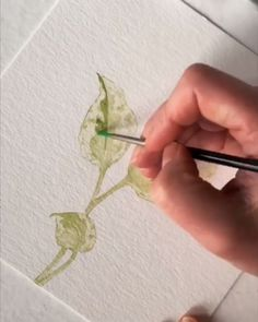 Art with Aquarell Sketch and paint elegant leaves with a variety of Arteza Paint colors. Watercolor Video, Watercolor Painting Techniques, Watercolor Leaves, Watercolour Tutorials, Watercolor Drawing, Painting & Drawing, Watercolor Paintings, Watercolor Crystal Tutorial, Painting With Watercolors