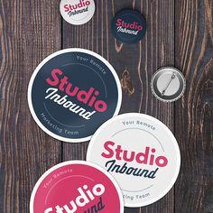 Studio Inbound logo & branding by Balazs Szarka Logo Branding, Logos, Web Design, Logo Design, Freelance Graphic Design, Inbound Marketing, Studio, Typography, Symbols