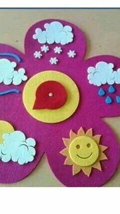 cloud rainbow crafts and weather Preschool Weather, Weather Crafts, Preschool Classroom, Classroom Decor, Preschool Activities, Kids Crafts, Felt Crafts, Diy And Crafts, Rainbow Crafts