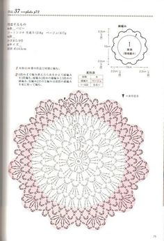 Doily Diagram - No linked pattern, just the image - but great if you can read them.