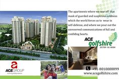 Come, and experience the exuberance of intelligent living where you can feel the #freshness.#AceGolfShire Noida Expressway :- http://www.acegroupindia.com/ace-golf-shire.html