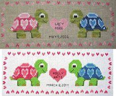Turtle Love - Cross Stitch Pattern