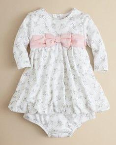 Little Me Infant Girls' Belle Bow Dress - Sizes 3-9 Months