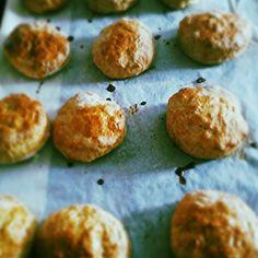 #suikervrije scones met #stevia uit eigen tuin