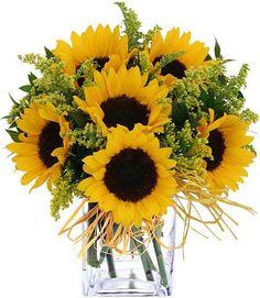 fall floral arrangements ideas for weddings | Fall flower arrangements with sunflowers: