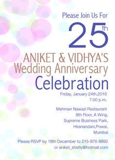 25th wedding anniversary bubbles theme