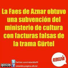 Partido popolar gurtel faes Aznar