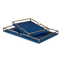 The Bianca Grand Tray in Navy is a timeless piece with a classic design and brass handles. It's bold size and color is what makes this tray beautifully elegant. Royal Blue And Gold, Blue Gold, Shell Chandelier, Table Top Display, Tray Decor, Coastal Decor, Modern Coastal, Decoration, Contemporary Style